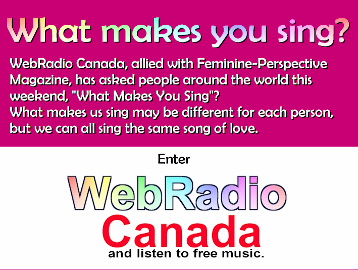 What makes you sing?